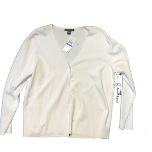 Nwt white Cardigan XL cotton stretch